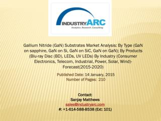 Gallium Nitride Substrates Market- Growing need for devices with lesser defects propels the revenue.