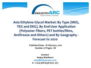 Asia Ethylene Glycol Market: dominated by APAC owing to high production through 2020.