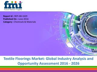 Textile Floorings Market to expand at a CAGR of 5.7%, by 2026