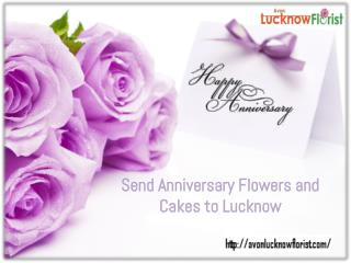 Send Anniversary Flowers and Cake to Lucknow