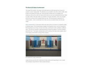 The Secret Of Aisle Containment