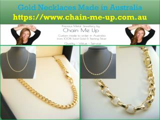 Gold Necklaces Made in Australia