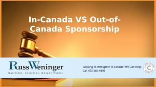 Sponsorship To Canada