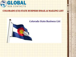 Colorado State Business Email & Mailing List