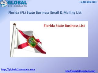 Florida State Business Email & Mailing List