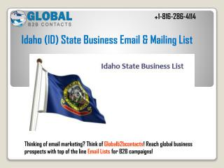 Idaho State Business Email & Mailing List