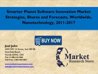 Smarter Planet Software Innovation Market 2016: Global Industry Size, Share, Growth, Analysis, and Forecasts to 2021