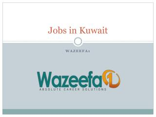 Jobs in Kuwait - 2016