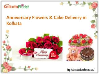 Send Anniversary Flowers and Cake to Kolkata