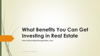 What Benefits You Can Get Investing in Real Estate