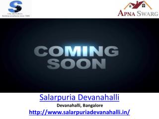 Salarpuria Devanahalli Residential Project | Sale For Project