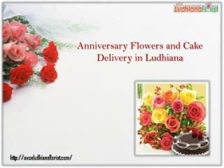 Anniversary Flowers and Cake Delivery in Ludhiana