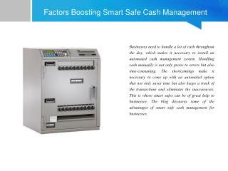 Factors Boosting Smart Safe Cash Management