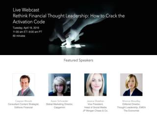Rethink Financial Thought Leadership: How to Crack the Activation Code