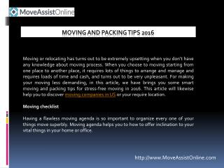 Best Moving and Packing Tips