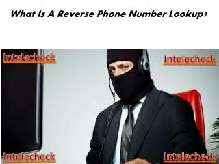 Intelecheck - What Is A Reverse Phone Number Lookup ?