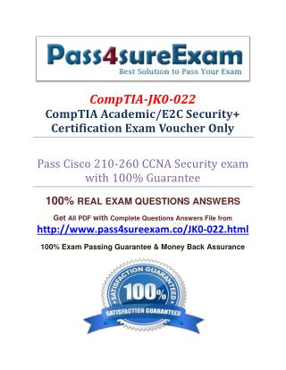 Pass4sure JK0-022 Dumps