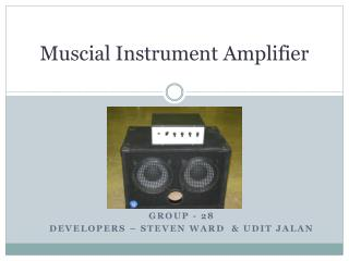 Muscial  Instrument Amplifier
