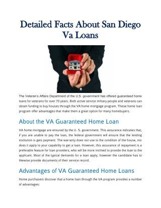Detailed Facts About San Diego Va Loans
