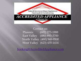 Appliance repair phoenix accredited appliance