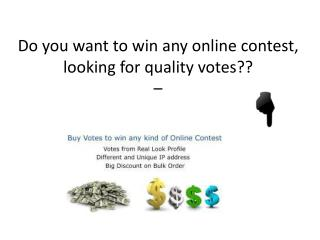 Get Online Contest Votes to win any contest