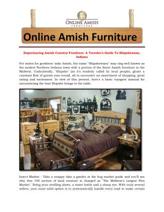 Experiencing Amish Country Furniture: A Traveler's Guide To Shipshewana, Indiana