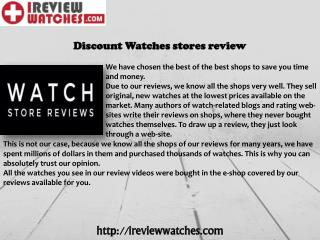 Discount Watches Stores Review