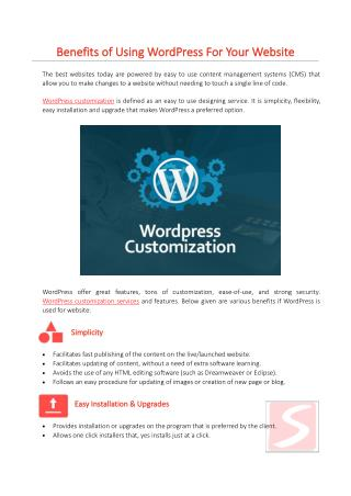 Benefits of Using WordPress For Your Website