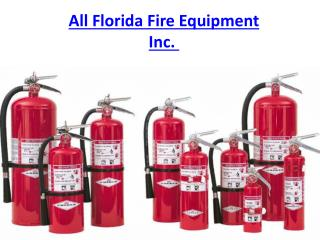 All Florida Fire Equipment Inc.
