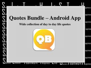 Quotes Bundle Android App - Wide Collection of Quotes