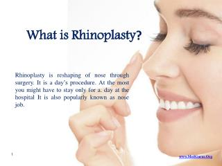 What is Rhinoplasty-Nose Job ?