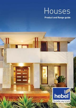 Houses Product and Range Guide
