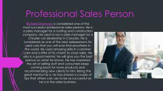 professional sales person