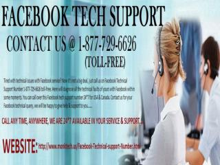 Facebook Tech Support Number 1-877-729-6626 Toll-Free