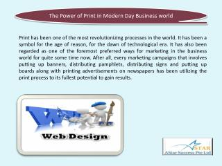 The Power of Print in Modern Day Business world
