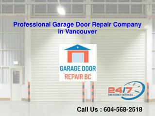 Residential and Commercial Garage Door Service in Vancouver