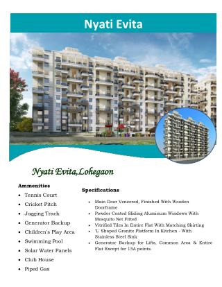 Lohegaon hosts Nyati Evita by Nyati Group with elite range of residences