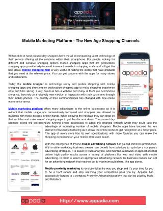 Mobile Marketing Platform