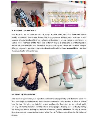 Shoebuild Beauteous Footwear at Shoebuild.com Online Store