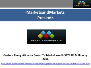 Analysis of Gesture Recognition for Smart TV Market