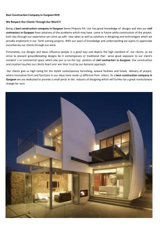 Best Construction Company in Gurgaon NCR