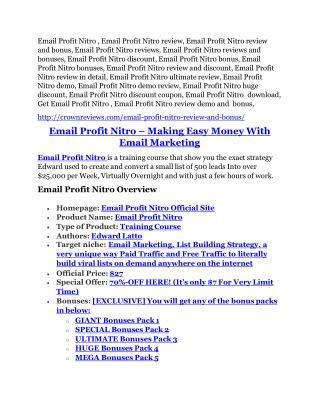 Email Profit Nitro review - 65% Discount and FREE $14300 BONUS