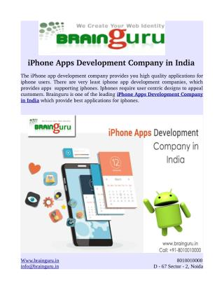 iPhone Apps Development Company in India