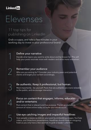 11 tips for publishing on LinkedIn