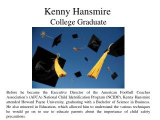 Kenny Hansmire - College Graduate