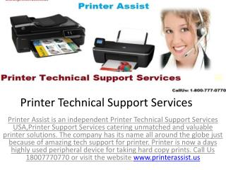 Printer Support Services | Printer Technical Support Services | Printer Assist