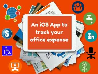 An iOS App To Track Your Office Expense