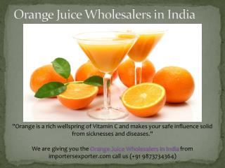 Orange Juice Wholesalers in India