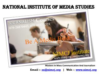 Kick-start your career in mass communication and journalism | NIMCJ
