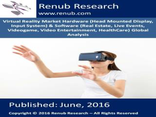 Global Virtual Reality Market - Renub Research